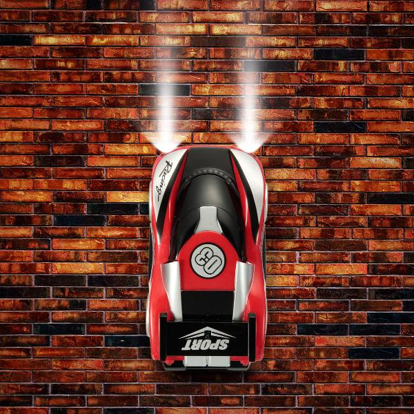 Super wall climbing rc car drives with zero gravity