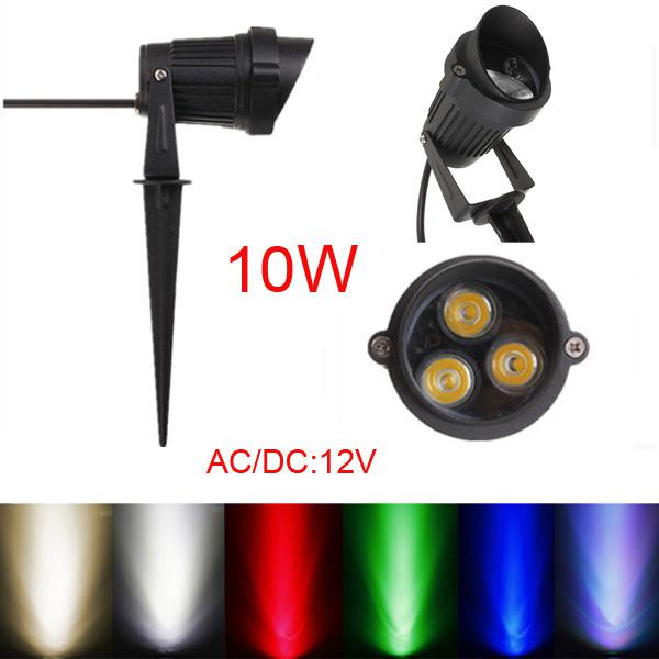 10w led flood light with rod & cap for garden yard ip65 dc