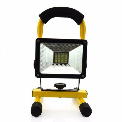 30w 2400lm cree xm-l rechargeable led flood light. red and