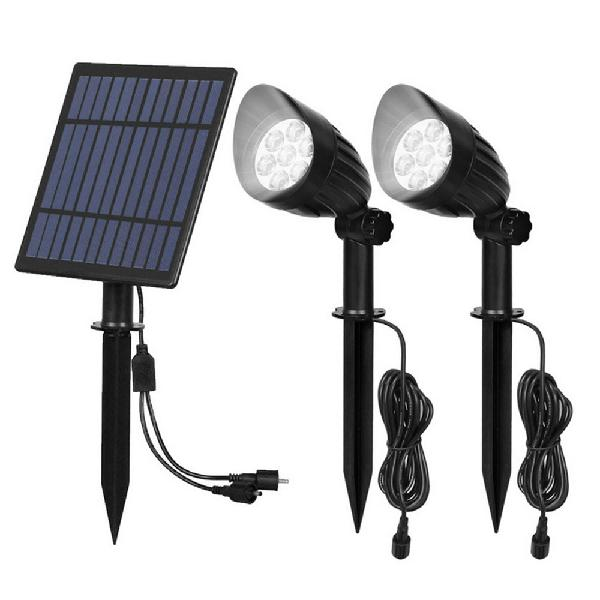 5w 2 in 1 solar powered led light-controlled lawn lights