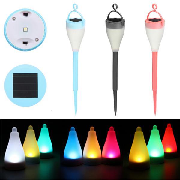 Colorful solar powered led night light landscape garden lamp
