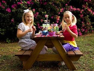 Picnic table six seater for children painted