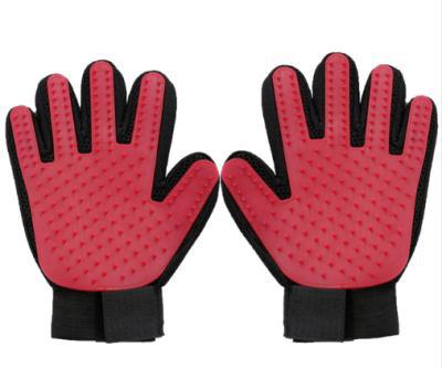 Pet brush glove - red1 / right hand