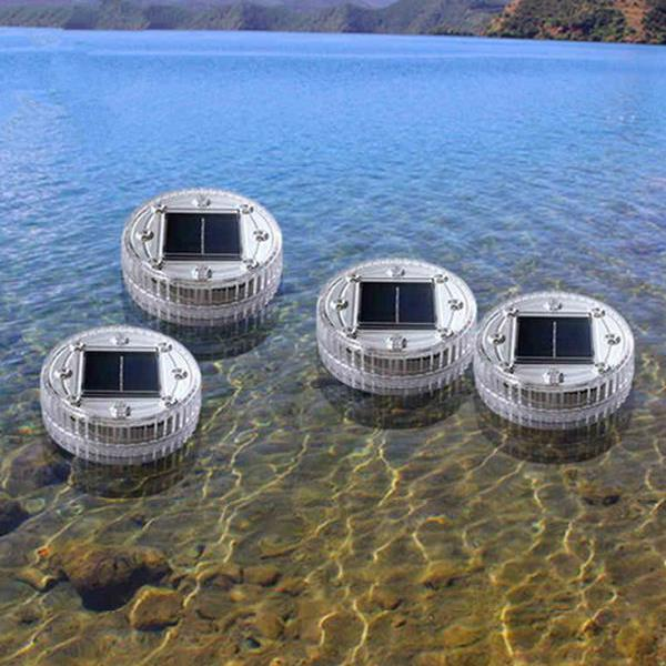 Solar 6 led underground buried light waterproof outdoor