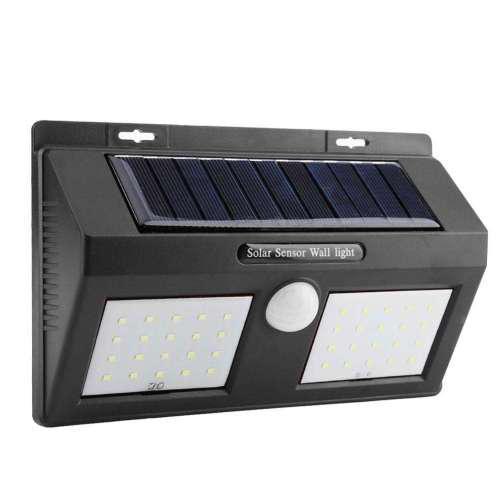 Solar light led solar panels pir motion sensor garden light