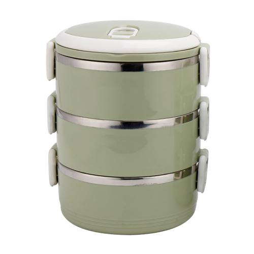 3 layers insulated stainless steel lunch box food container