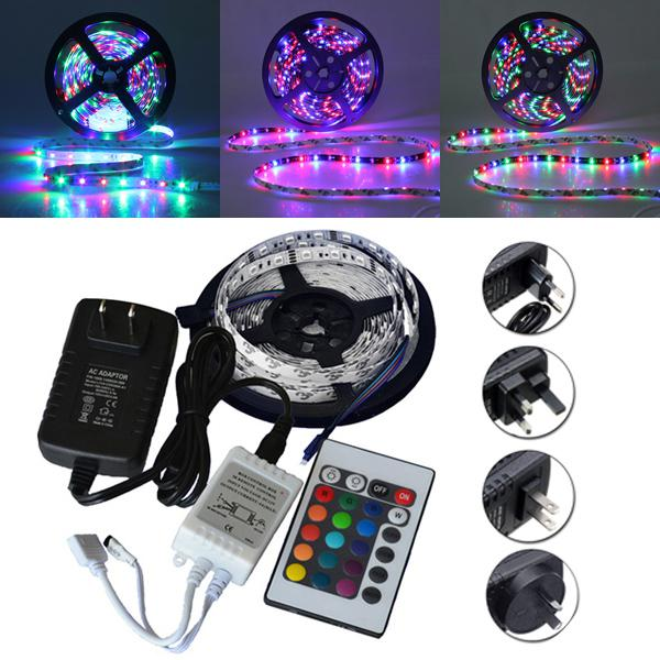 5m smd 3528 300 waterproof led rgb strip flexible light 24