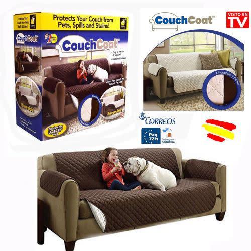 Couch coat funda para sofa reversible lavable protectora