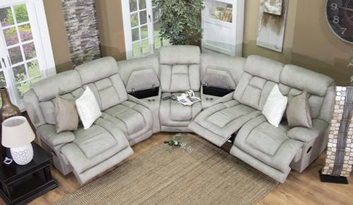 Couches recliner corner lounge suite grey