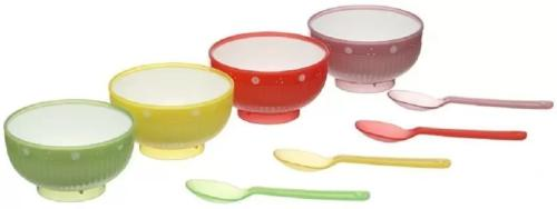 Colourful jelly bowls set