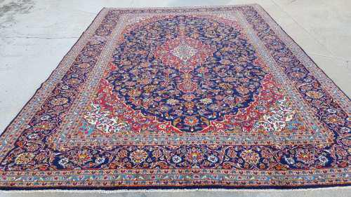 Persian kashan carpet 420cm x 294cm hand knotted