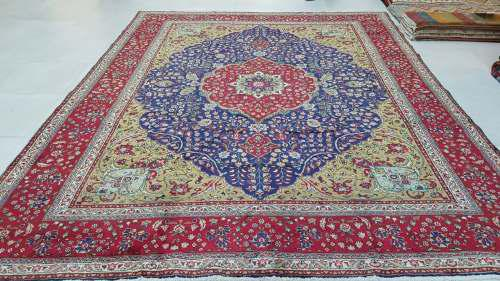 Persian tabriz carpet 391cm x 300 hand knotted