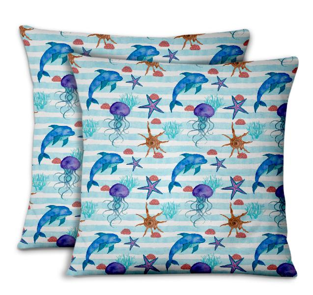 S4Sassy Cushion Cover Jelly & Starfish Ocean Decorative