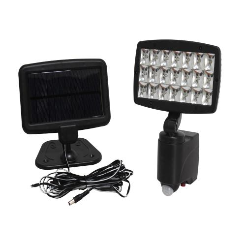 Solar led outdoor wall garden flood light (21 leds) with