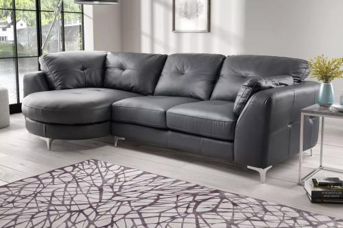 Xl chaise lounger leather sofa