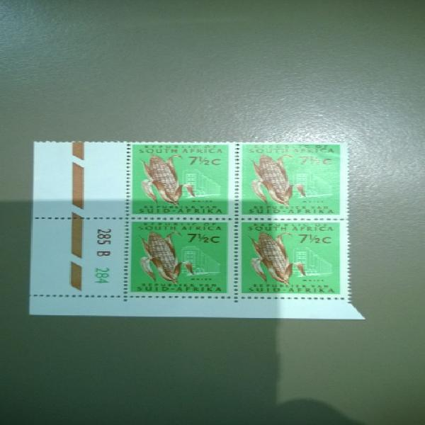 South africa - 1969-1972 definitive 7.5c swiss paper 3mm