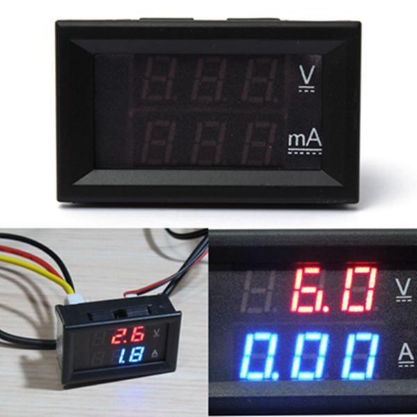 0.28 inch dual display red blue led panel 4.5-30v digital