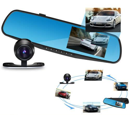 1080p hd rearview mirror car camera video recorder dash cam