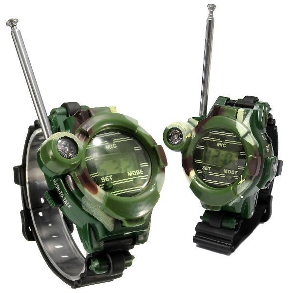 2pcs 7 in 1 children walkie talkie child kids watches