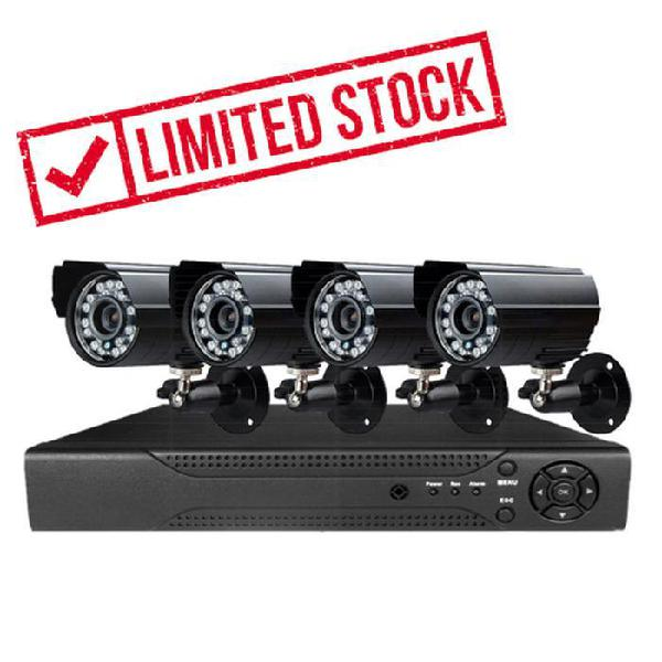 4 channel diy cctv kit with internet & home viewing