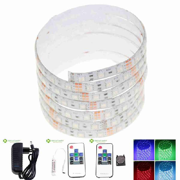 5m 75w waterproof rgb 300-led light strip w/ 10/44 key
