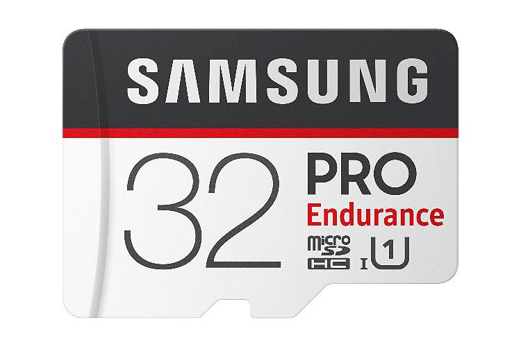 Samsung pro endurance 32gb micro sdhc card with adapter -