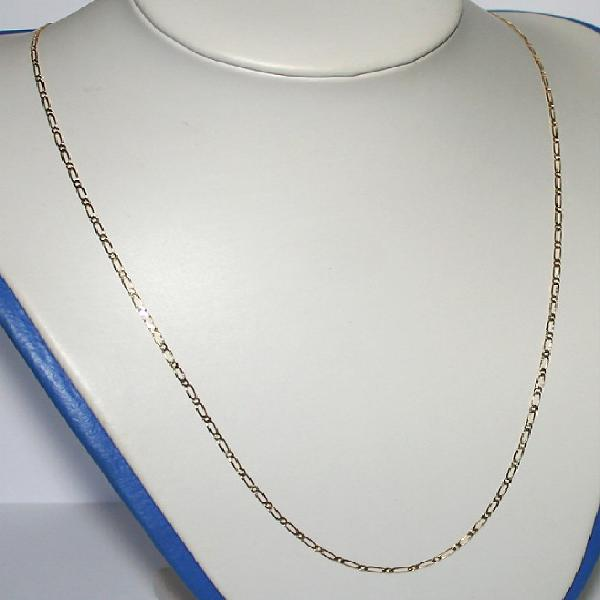 9k / 9ct gold chain: 1+1 figaro, 2mm wide, 60cm. ready for
