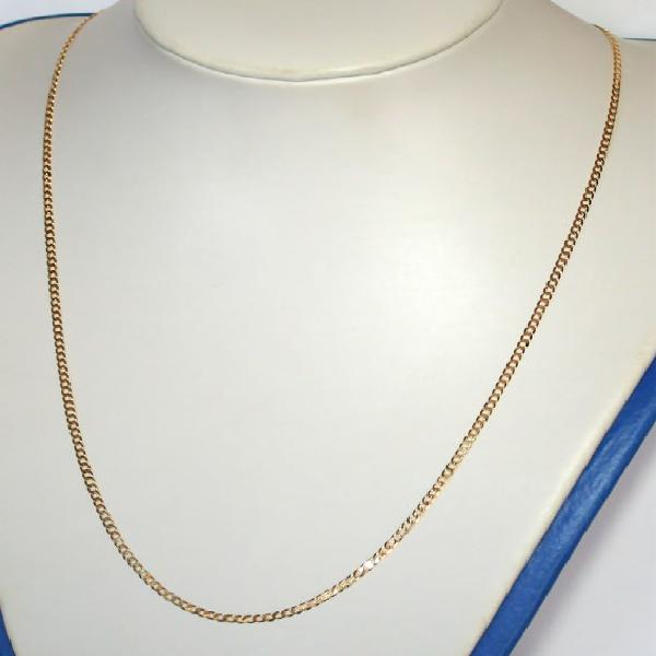9k / 9ct gold oval curb chain: 2.3mm wide, 60cm