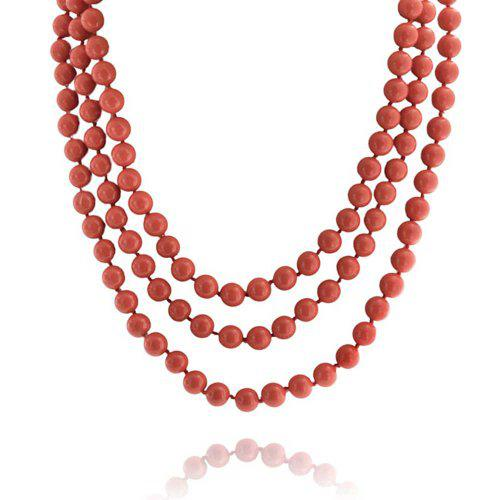 Bling jewelry simulated coral simulated pearl strand endless