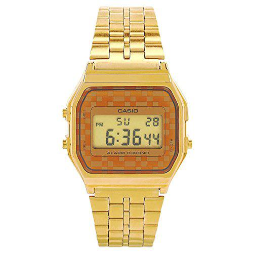 Casio #a159wgea-9a men's vintage gold tone chrongoraph alarm