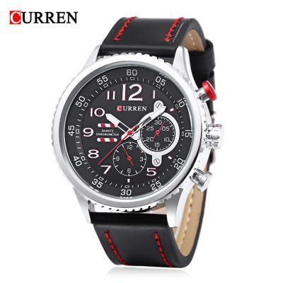 Curren 8179 men quartz watch hollow luminous pointer 3atm
