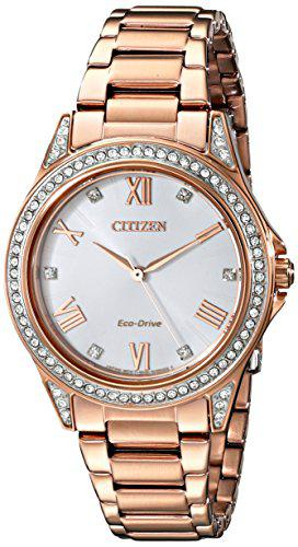 Drive from citizen eco-drive women's watch with crystal