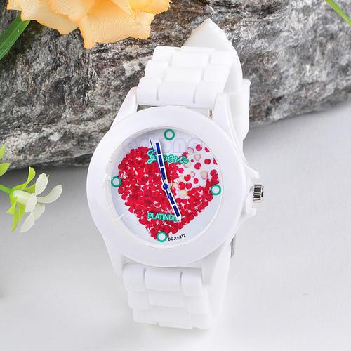 Fashion silicone rubber jelly gel quartz analog sports