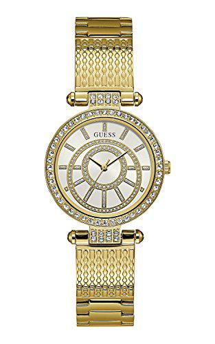 Guess muse white dial stainless steel ladies watch w1008l2
