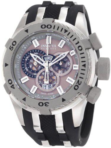 Invicta men's 0981 reserve chronograph grey dial black