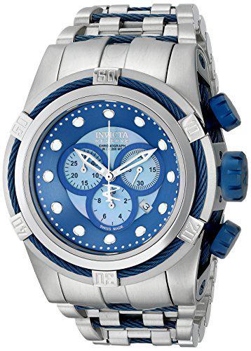 Invicta men's 12728 bolt reserve chronograph blue