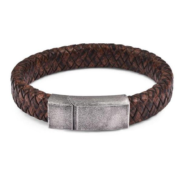 Jiayiqi punk men jewelry black/brown braided leather