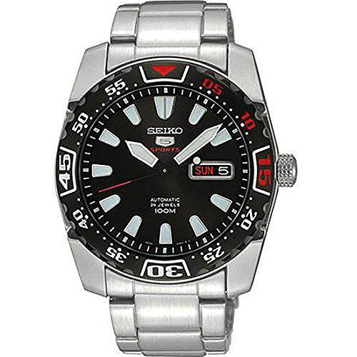 Seiko 5 sports srp167j1 silver black dial automatic