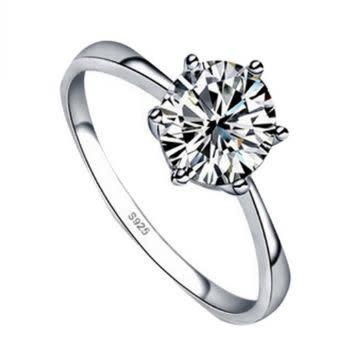 Stunning quality 0.95 carat simulated diamond solitaire