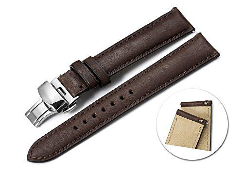 Istrap 19mm calf leather watch band quick release strap