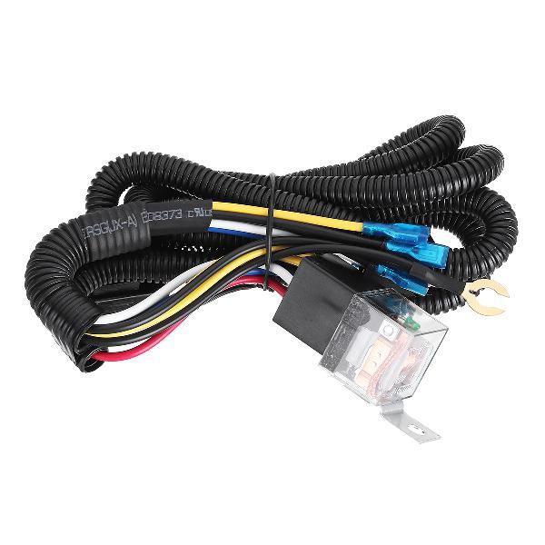 12/24v 100cm horn wiring harness relay kit double speaker
