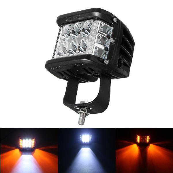 12v 10v-48v led work fog light side shooter combo dual color