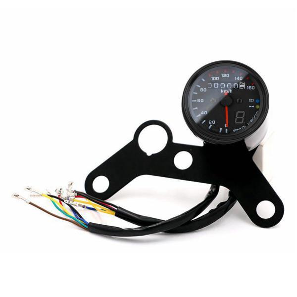 12v motorcycle led odometer speedometer tachometer speedo