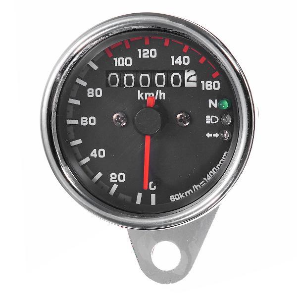 12v universal motorcycle speedometer odometer gauge dual