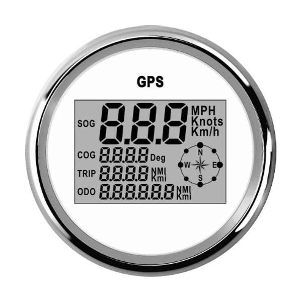 85mm waterproof gps digital speedometer odometer gauge for