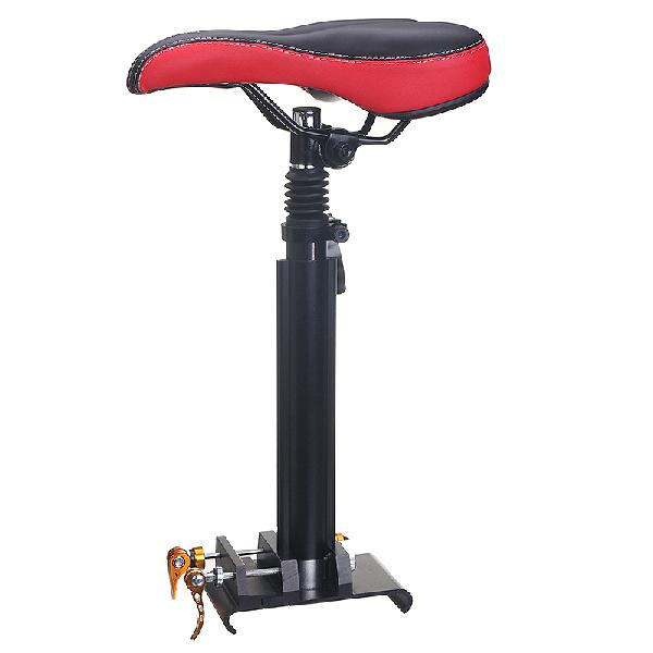 Adjustable foldable saddle seat black&red for ninebot