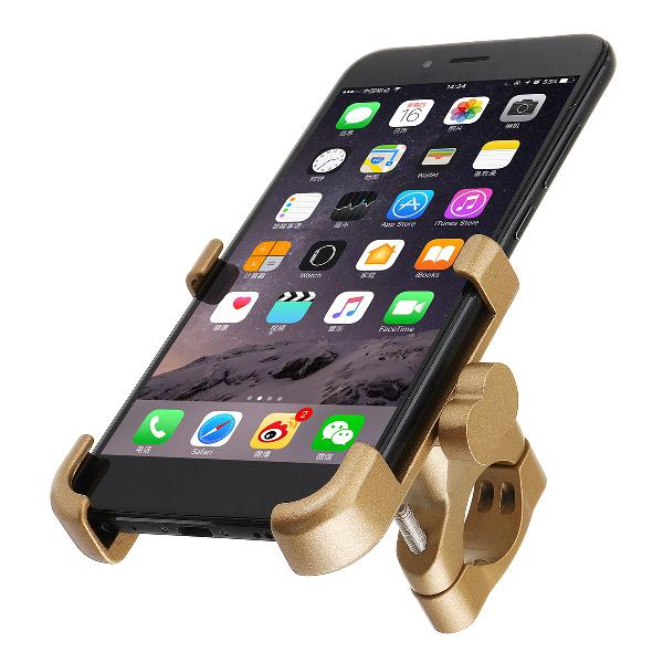 Aluminum universal mobile phone gps mount holder stand gold