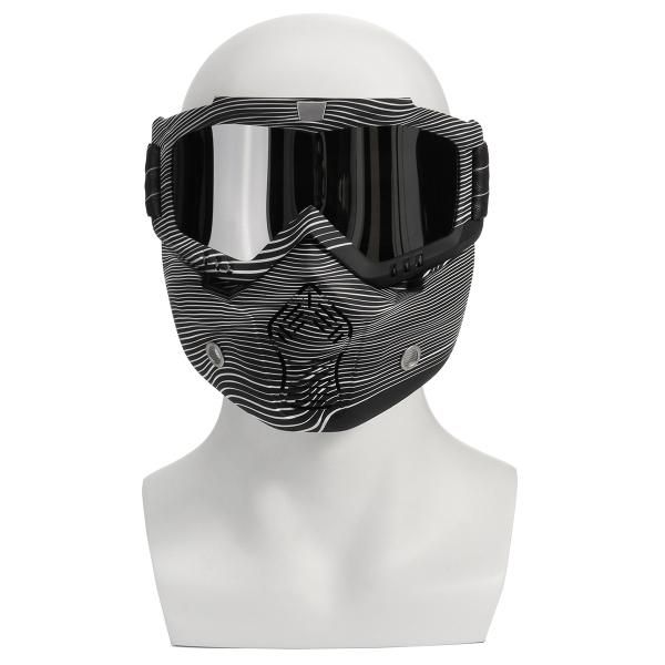 Detachable modular mask shield goggles full face protect for