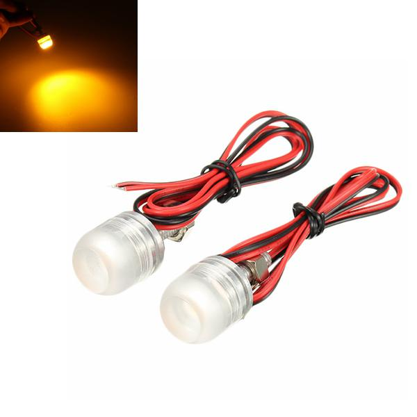 Motorcycle license plate tail lights led screw lamp brake