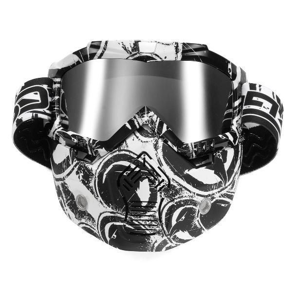 Removable detachable modular full face mask shield goggles